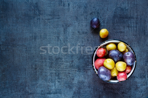 varieties of fresh potatoes Stock photo © YuliyaGontar