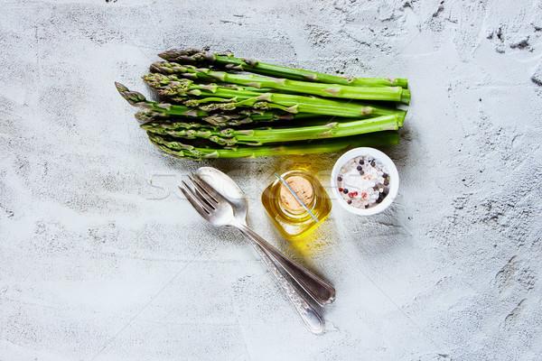 Zdjęcia stock: Zielone · świeże · szparagów · organiczny · serwowane