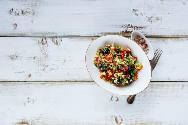 Healthy quinoa salad Stock photo © YuliyaGontar