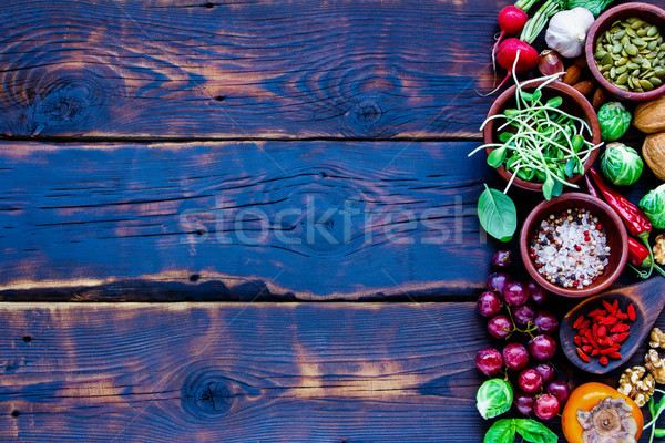 Stock photo: Fresh vegetables and fruits