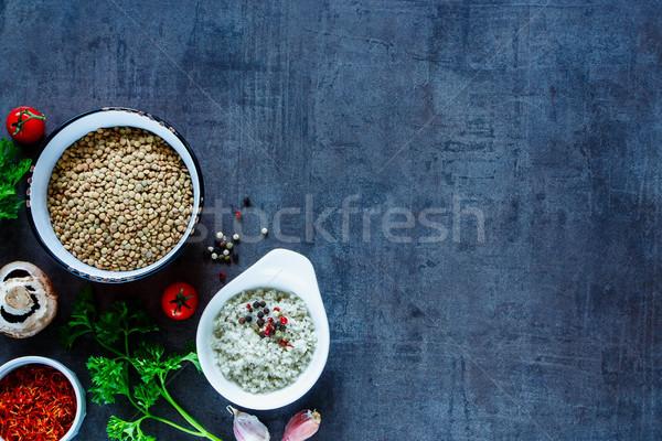 スパイス 野菜 先頭 表示 緑 ストックフォト © YuliyaGontar