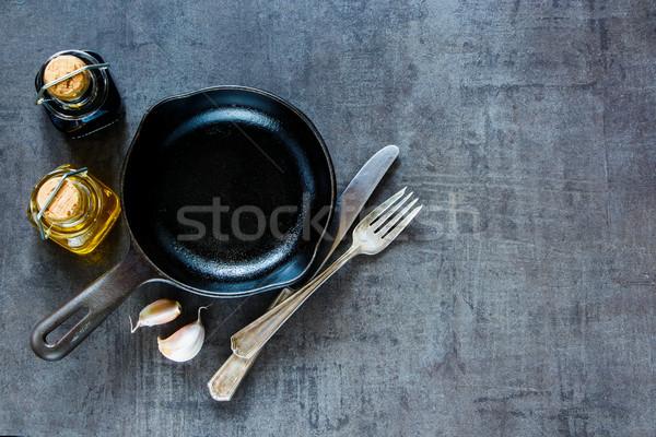 Сток-фото: приготовления · Ингредиенты · Vintage · свежие · чеснока