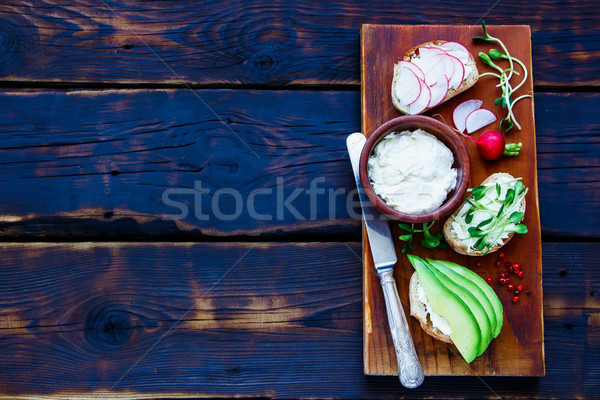 Vegetarian Sandwiches Stock photo © YuliyaGontar