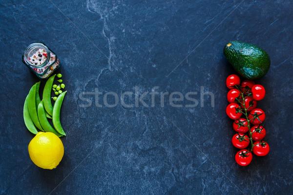Vegetarisch eten schone veganistisch donkere beton Stockfoto © YuliyaGontar