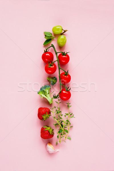розовый Top мнение копия пространства продовольствие здоровья Сток-фото © YuliyaGontar
