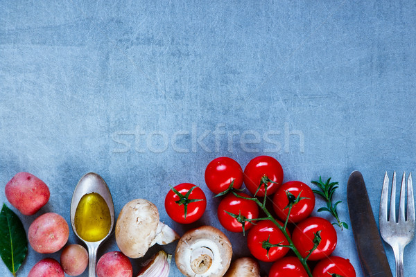 Stock photo: Vegetables on vintage background