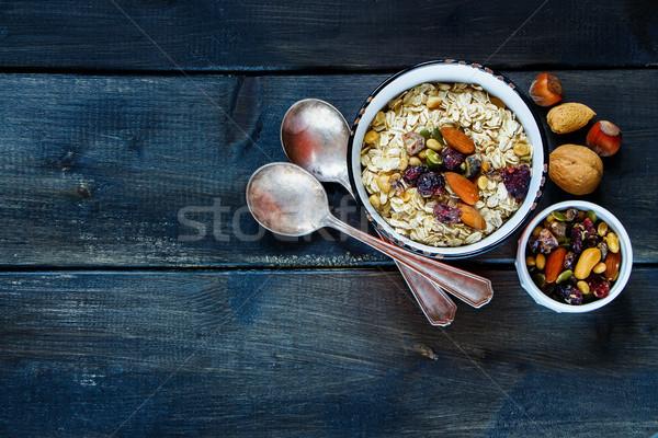 Table with healthy breakfast Stock photo © YuliyaGontar