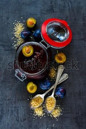 Сток-фото: приготовления · Ингредиенты · Vintage · свежие · чеснока · оливкового · масла