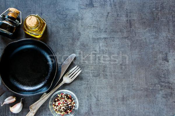 приготовления Ингредиенты старые специи чеснока Сток-фото © YuliyaGontar
