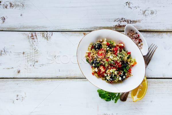 Foto stock: Saludable · ensaladera · ensalada · tomates · cherry · aguacate