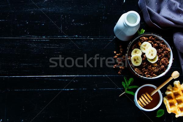 Healthy breakfast ingredients Stock photo © YuliyaGontar