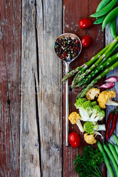 野菜 新鮮な バイオ 野菜 木製 先頭 ストックフォト © YuliyaGontar