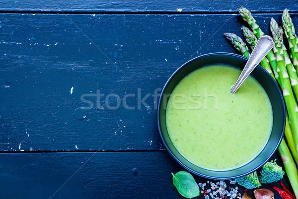 Green vegetable soup Stock photo © YuliyaGontar