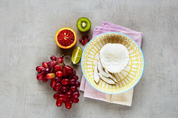 Színes organikus gyümölcsök fény elegáns klasszikus Stock fotó © YuliyaGontar