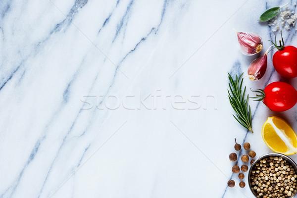 材料 大理石 テクスチャ 健康 トマト 唐辛子 ストックフォト © YuliyaGontar