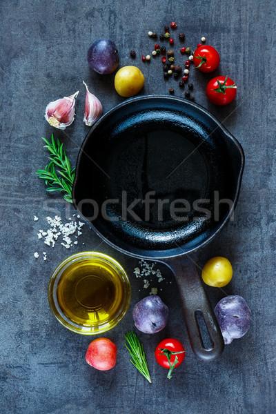 Stok fotoğraf: Taze · organik · sebze · malzemeler · patates