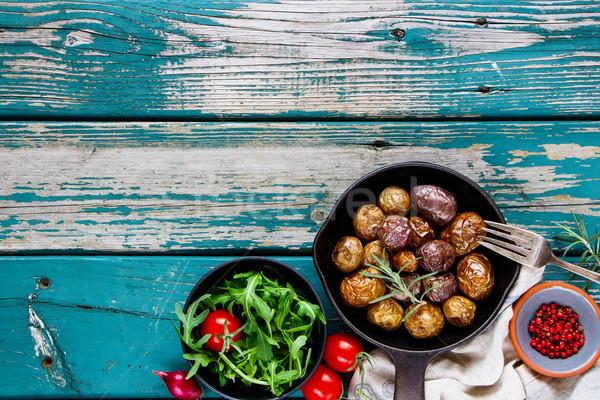 Delicious dinner table Stock photo © YuliyaGontar