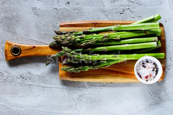 Сток-фото: зеленый · свежие · спаржа · органический · специи