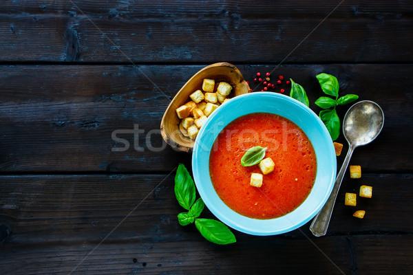 Gazpacho Tomato soup Stock photo © YuliyaGontar