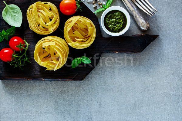 Сток-фото: итальянский · пасты · тальятелле · традиционный · приготовления