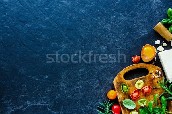 Сток-фото: итальянской · кухни · Ингредиенты · приготовления · итальянский · обеда · свежие