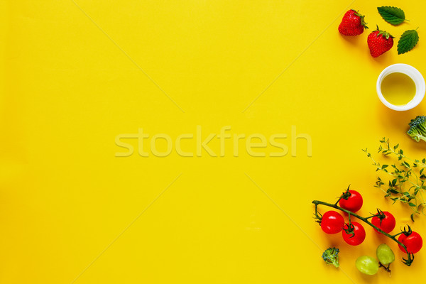 желтый органический Top мнение копия пространства продовольствие Сток-фото © YuliyaGontar