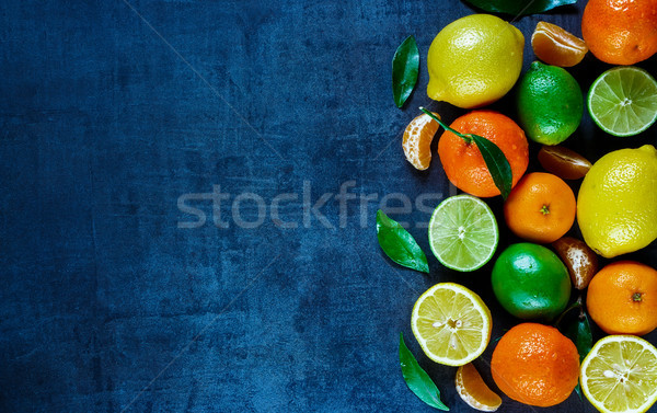 citrus fruits with leaves Stock photo © YuliyaGontar