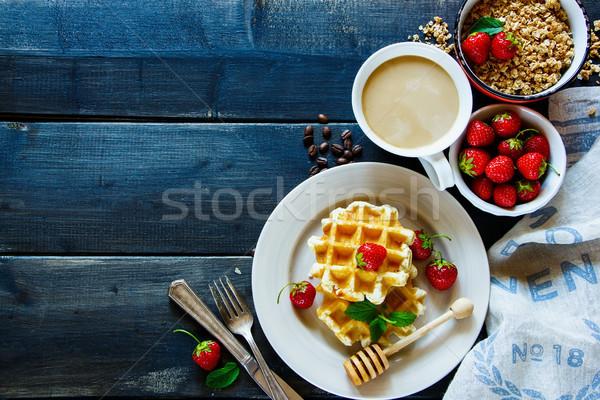 Colazione tavola piatto caffè Foto d'archivio © YuliyaGontar