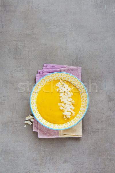 Yellow mango smoothie Stock photo © YuliyaGontar