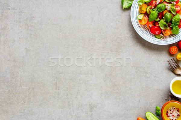 Zdrowych Sałatka składniki kolorowy tablicy świetle Zdjęcia stock © YuliyaGontar