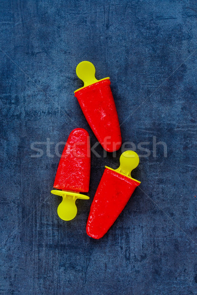 Fresa sorbete superior vista casero helado Foto stock © YuliyaGontar