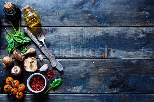 Vers organisch groenten kleurrijk ingrediënten Stockfoto © YuliyaGontar