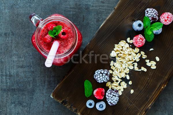 Smoothie and  ingredients Stock photo © YuliyaGontar