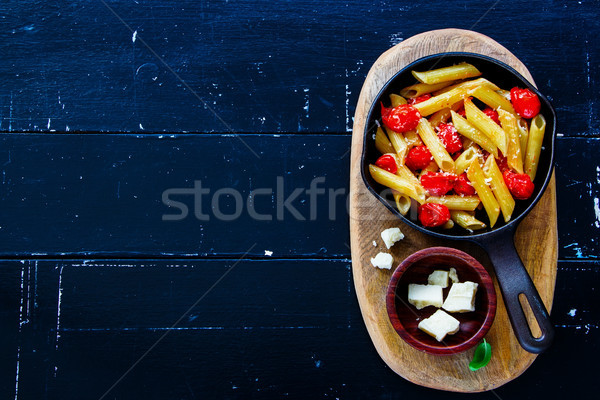 Italian pasta dinner Stock photo © YuliyaGontar