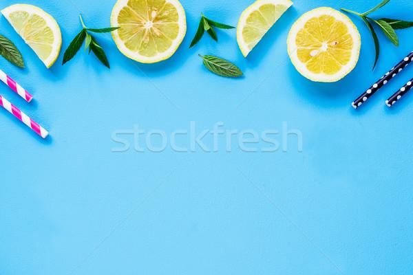 材料 夏 カクテル 創造 レイアウト レモネード ストックフォト © YuliyaGontar