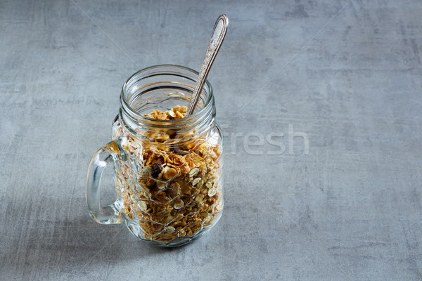 Jar with granola Stock photo © YuliyaGontar