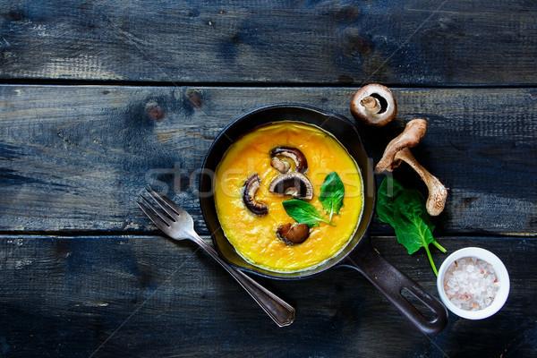 яйцо грибы Top мнение итальянский Сток-фото © YuliyaGontar