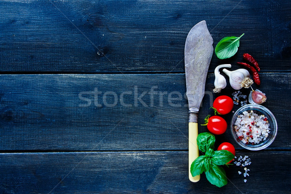 Fresh vegetables and seasoning Stock photo © YuliyaGontar