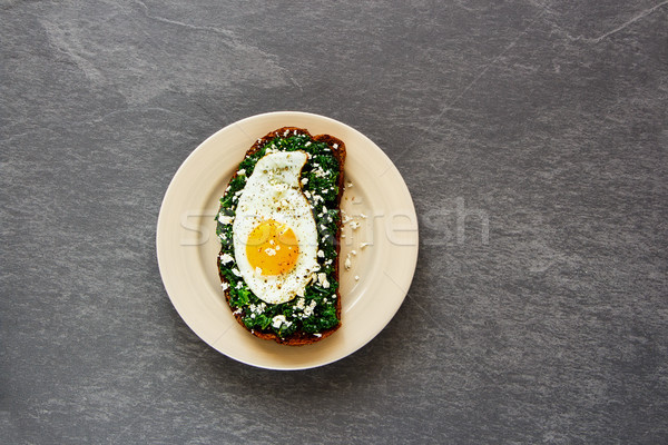 Morning breakfast sandwich Stock photo © YuliyaGontar