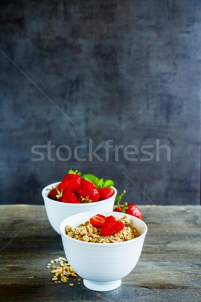 Muesli frutti di bosco cereali sani colazione Foto d'archivio © YuliyaGontar
