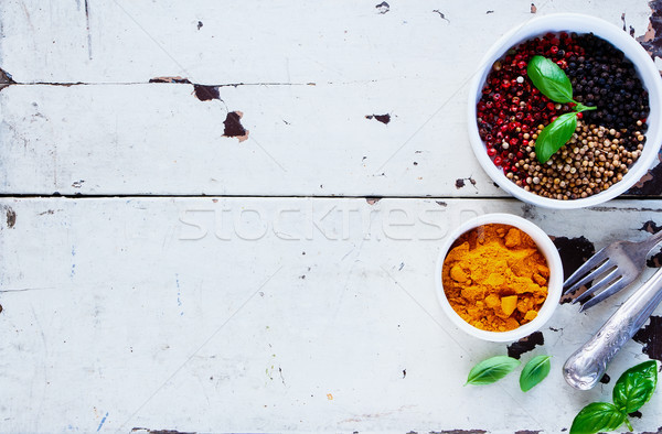 Colourful dried spices Stock photo © YuliyaGontar