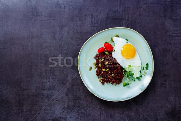 Red quinoa for dinner Stock photo © YuliyaGontar