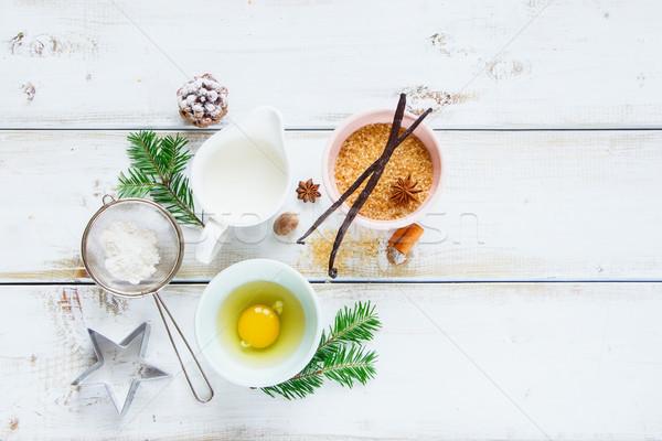 Christmas baking background Stock photo © YuliyaGontar