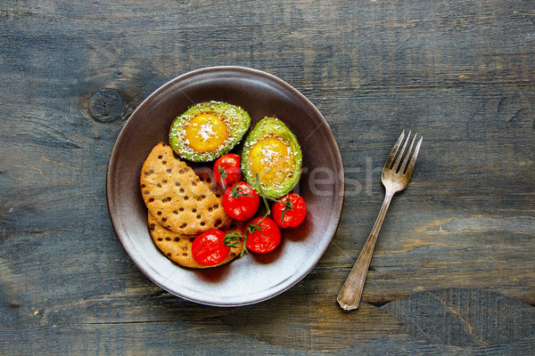 Avocado uova sani vegetariano colazione Foto d'archivio © YuliyaGontar