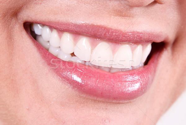 White smile Stock photo © yupiramos