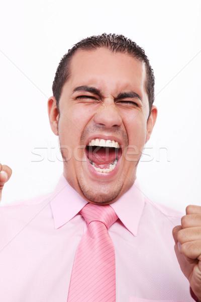 Screaming young man Stock photo © yupiramos
