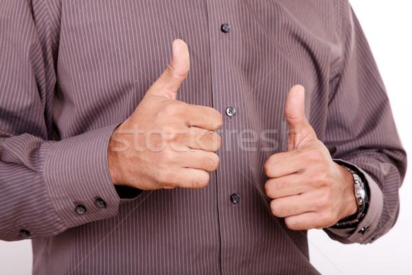 Positividad manos hombre blanco oficina Foto stock © yupiramos