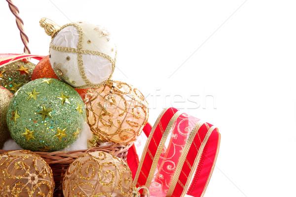 Christmas balls Stock photo © yupiramos