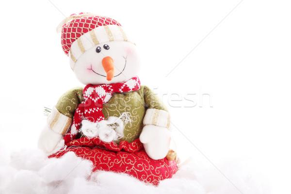Cute pupazzo di neve testo design Foto d'archivio © yupiramos