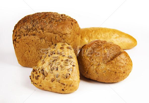 Néhány friss kenyér fehér étel búza Stock fotó © yura_fx